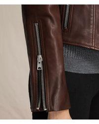 AllSaints Multicolor Coniston Leather Biker Jacket