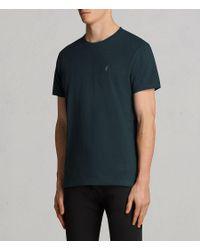 AllSaints - Blue Laiden Tonic Crew T-shirt for Men - Lyst