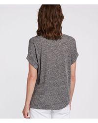 AllSaints - Gray Nyc Imogen Tee - Lyst