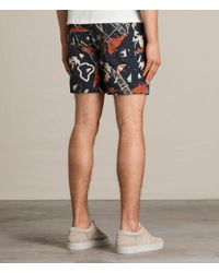 AllSaints - Black Waikiki Swim Shorts for Men - Lyst