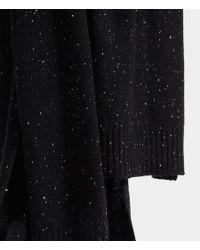 AllSaints - Black Flecked Cashmere Scarf for Men - Lyst