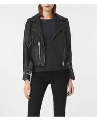 AllSaints | Black Balfern Leather Biker Jacket Usa Usa | Lyst