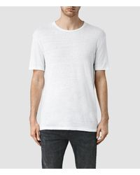 AllSaints White Faxley Crew T-shirt for men