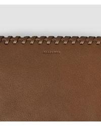 AllSaints | Brown Fleur De Lis Continental Wallet | Lyst