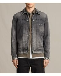 AllSaints | Gray Gambola Denim Jacket for Men | Lyst