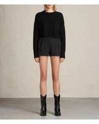 AllSaints | Black Ivy Rib Shorts | Lyst