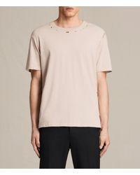 AllSaints | Pink Jefris Crew T-shirt for Men | Lyst