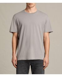 AllSaints | Gray Mayther Crew T-shirt for Men | Lyst