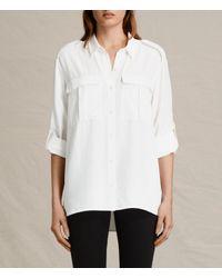 AllSaints | White Millie Shirt Usa Usa | Lyst
