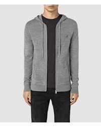 AllSaints | Gray Mode Merino Zip Hoody Usa Usa for Men | Lyst