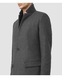 AllSaints Gray Navan Coat for men
