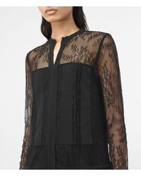 AllSaints Black Nia Jolene Sleeve Dress