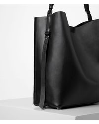 AllSaints - Brown Paradise North South Tote - Lyst