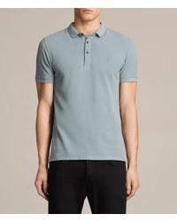 AllSaints | Blue Reform Polo Shirt for Men | Lyst