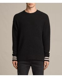 AllSaints Black Rylatt Crew Jumper for men
