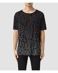 AllSaints | Black Salix Crew T-shirt for Men | Lyst