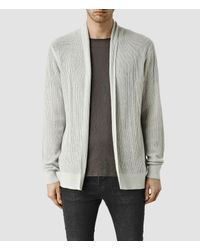 AllSaints | Gray Stein Cardigan for Men | Lyst