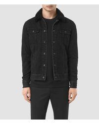 AllSaints Black Stram Denim Jacket for men