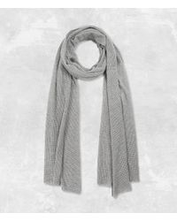 AllSaints | Gray Terrum Scarf Usa Usa | Lyst