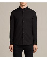 AllSaints | Black Topanga Shirt Usa Usa for Men | Lyst