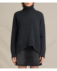 AllSaints | Gray Veda Roll Neck Sweater Usa Usa | Lyst