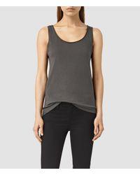 AllSaints | Gray Vetten Vest | Lyst