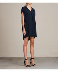 AllSaints - Blue Via Dress - Lyst