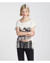 AllSaints - White Riders Tami Pina T-shirt - Lyst