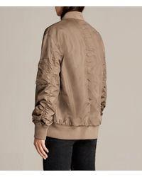 AllSaints | Natural Myra Bomber Jacket | Lyst