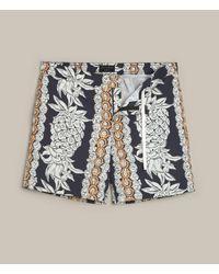 AllSaints | Blue Ananas Swim Shorts for Men | Lyst