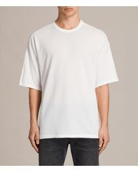 AllSaints - White Hiruma Crew T-shirt for Men - Lyst