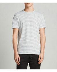 AllSaints - White Brace Tonic Crew T-shirt for Men - Lyst