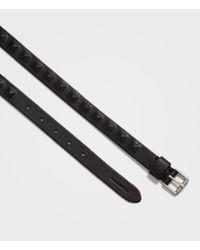 AllSaints Black Prism Leather Belt for men