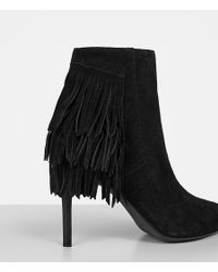 AllSaints Black Xandra Suede Ankle Boots