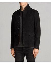 AllSaints - Black Liath Suede Blazer for Men - Lyst