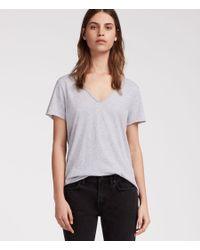 AllSaints - Gray Emelyn Tonic T-shirt - Lyst