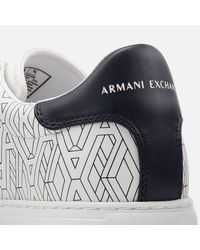 Armani Exchange White Low Top Trainers for men