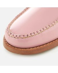 G.H.BASS Pink Penny Slide Wheel Patent Leather Loafers
