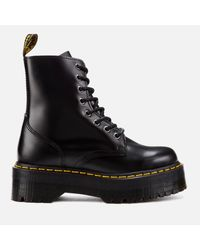 Dr. Martens Black Jadon Polished Smooth Leather 8-eye Boots