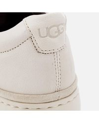 Ugg White Brecken Lace Low Cupsole Trainers for men