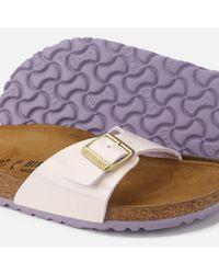 Birkenstock Pink Madrid Patent Slim Fit Single Strap Sandals