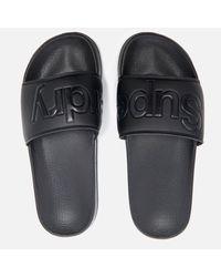 Superdry - Black Pool Slide Sandals - Lyst