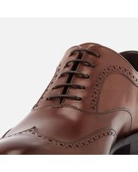 BOSS - Brown Manhattan Leather Brogues for Men - Lyst