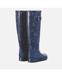 Hunter - Blue Refined Constellation Print Tall Wellies - Lyst