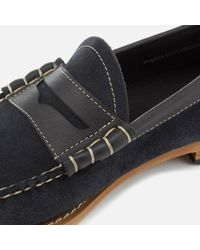 G.H.BASS Blue Larson Reverso Suede Loafers for men