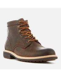 Ugg Brown Vestmar Leather Lace Up Boots for men