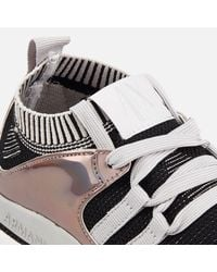 Armani Exchange Black Knit Runner Trainers