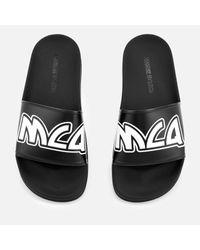 McQ Alexander McQueen Black Chrissie Slide Sandals