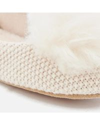 Ugg Natural Andi Cotton Knitted Slippers