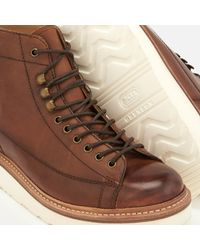 GRENSON Brown Men's Andy Hand Painted Grain Leather Monkey Boots for men